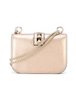 Сумка На Плечо Glam Lock Valentino                                                                                                              серебристый цвет