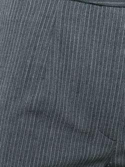 Укороченные Брюки В Тонкую Полоску JOHN GALLIANO VINTAGE                                                                                                              серый цвет