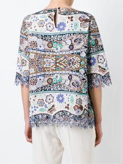 Блузка С Цветочным Принтом Etro                                                                                                              коричневый цвет