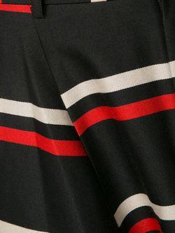 Брюки Гаучо В Полоску COMME DES GARCONS HOMME PLUS                                                                                                              черный цвет