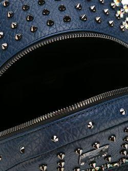 Маленький Рюкзак С Заклепками MCM                                                                                                              синий цвет
