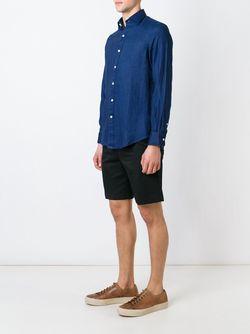 Классическая Рубашка Polo Ralph Lauren                                                                                                              синий цвет