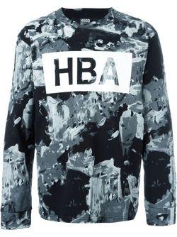 Толстовка С Принтом Логотипа HOOD BY AIR                                                                                                              чёрный цвет