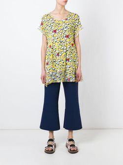 Блузка С Цветочным Принтом Tsumori Chisato                                                                                                              желтый цвет