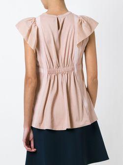 Плиссированная Блузка No21                                                                                                              розовый цвет