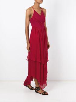 Платье С Асимметричным Подолом Jay Ahr                                                                                                              красный цвет