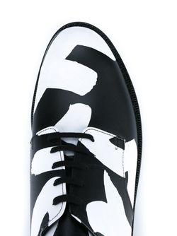 Туфли-Дерби С Графическим Принтом Freedom COMME DES GARCONS HOMME PLUS                                                                                                              чёрный цвет