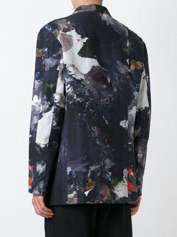 Блейзер С Принтом Yohji Yamamoto                                                                                                              черный цвет