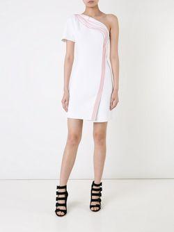 Платье На Одно Плечо Mugler                                                                                                              белый цвет