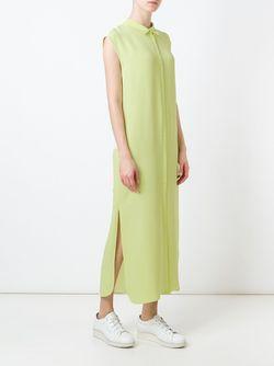 Платье-Рубашка Без Рукавов Joseph                                                                                                              зелёный цвет