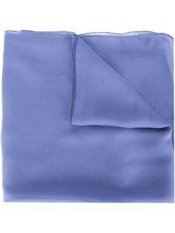 Классический Шарф Alberta Ferretti                                                                                                              синий цвет