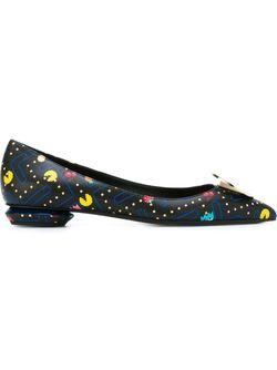 Балетки Eden Pacman Skimmer Nicholas Kirkwood                                                                                                              черный цвет