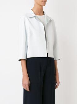 Crop Leather Jacket GLORIA COELHO                                                                                                              белый цвет