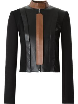 Leather Panel Jacket GLORIA COELHO                                                                                                              черный цвет