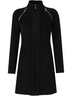 Panel Ribbed Coat GLORIA COELHO                                                                                                              черный цвет