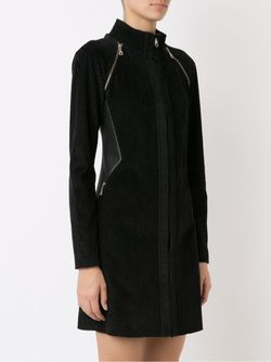 Panel Ribbed Coat GLORIA COELHO                                                                                                              чёрный цвет