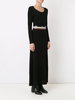 Knit Long Dress GLORIA COELHO                                                                                                              черный цвет