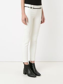 Panelled Skinny Trousers GLORIA COELHO                                                                                                              белый цвет