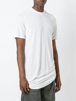 Удлиненная Футболка Rick Owens                                                                                                              белый цвет
