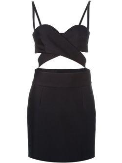 Платье С Вырезами Fausto Puglisi                                                                                                              чёрный цвет