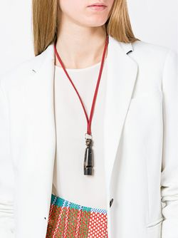 Колье С Подвеской В Виде Свистка Hermès Vintage                                                                                                              красный цвет