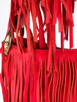 Сумка-Тоут С Бахромой Roberto Cavalli                                                                                                              красный цвет