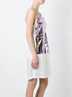 Платье С Металлическим Отблеском MM6 by Maison Margiela                                                                                                              белый цвет