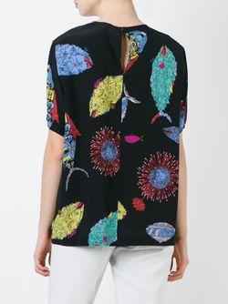 Блузка С Принтом Рыб Emilio Pucci                                                                                                              черный цвет