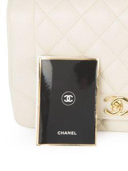Сумка На Плечо С Вязаной Отделкой Chanel Vintage                                                                                                              Nude & Neutrals цвет