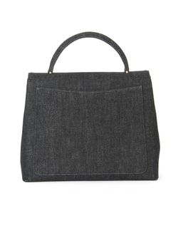 Джинсовая Сумка-Тоут Chanel Vintage                                                                                                              черный цвет