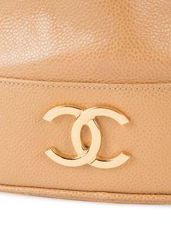 Сумка Со Сборкой Сверху Chanel Vintage                                                                                                              коричневый цвет