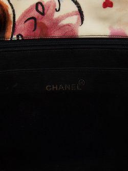 Стеганая Сумка-Тоут С Цепочной Отделкой Chanel Vintage                                                                                                              многоцветный цвет