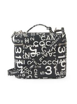 Чемоданчик Для Косметики 2way Chanel Vintage                                                                                                              черный цвет