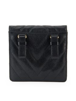 Поясная Сумка С Простроченным Узором Chanel Vintage                                                                                                              черный цвет
