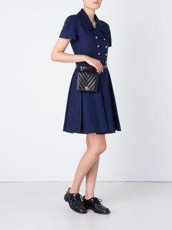 Поясная Сумка С Простроченным Узором Chanel Vintage                                                                                                              чёрный цвет