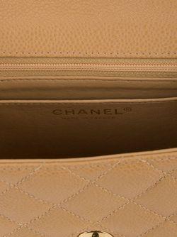 Стеганая Сумка На Плечо Chanel Vintage                                                                                                              Nude & Neutrals цвет