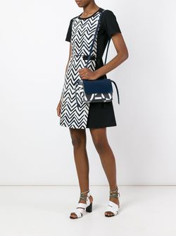 Платье С Узором Шеврон Jil Sander Navy                                                                                                              чёрный цвет