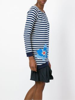 Расклешенное Платье В Полоску Jil Sander Navy                                                                                                              синий цвет