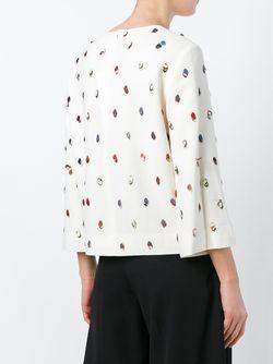 Декорированная Блузка Tory Burch                                                                                                              Nude & Neutrals цвет