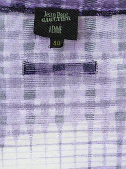 Прозрачный Топ С Графическим Принтом JEAN PAUL GAULTIER VINTAGE                                                                                                              розовый цвет