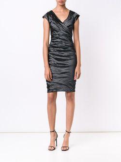 Платье С Оборками Nicole Miller                                                                                                              черный цвет