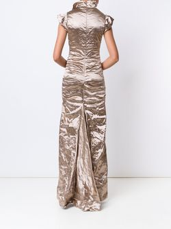 Вечернее Платье С Мятым Эффектом Nicole Miller                                                                                                              Nude & Neutrals цвет