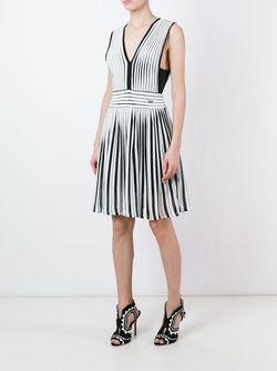 Расклешенное Платье Just Cavalli                                                                                                              белый цвет