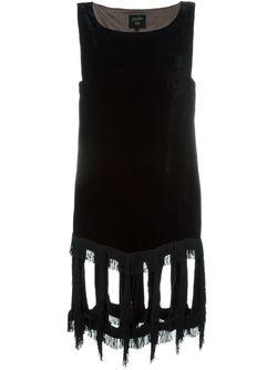 Бархатное Платье С Бахромой JEAN PAUL GAULTIER VINTAGE                                                                                                              чёрный цвет
