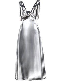 Полосатое Платье Lexa Misha Nonoo                                                                                                              черный цвет