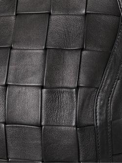 Плетеное Мини-Платье Balmain                                                                                                              черный цвет