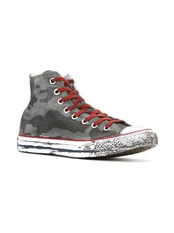 Камуфляжные Хайтопы Converse                                                                                                              серый цвет