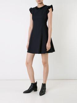 Расклешенное Платье С Рюшами LOVELESS                                                                                                              синий цвет