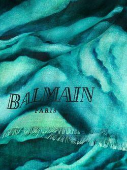 Платок С Принтом Зебры Balmain                                                                                                              зелёный цвет