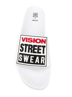 Шлепанцы Vision Street Wear X Swear                                                                                                              белый цвет